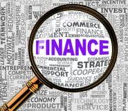 De financiën Magnifier tonen het Financiële Zoeken en het Overdrijven vector illustratie