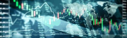 De Financiën van de effectenbeursinvestering het traiding stock afbeelding