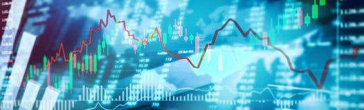 De Financiën van de effectenbeursinvestering het traiding royalty-vrije stock foto's
