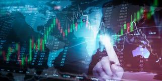 De Financiën van de effectenbeursinvestering het traiding stock foto