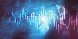 De Financiën van de effectenbeursinvestering het traiding stock afbeeldingen