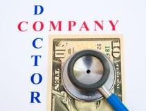 De financiën van het bedrijf; een gezondheidscontrole. royalty-vrije stock afbeelding