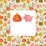 De Financiën van het beeldverhaal & de kaart van het Geld vector illustratie