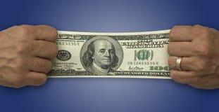 De Financiën van het geld Stock Fotografie