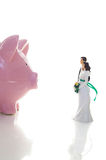 De financiën van het huwelijk Stock Fotografie