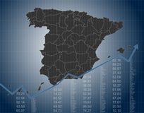 De Financiën van Spanje en Economie, een Kaart van Spanje royalty-vrije illustratie