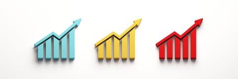 De financiën versperren de Groei 3d geef illustratie terug stock illustratie