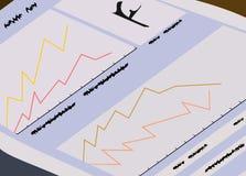De financiënkrant voor handelaren Stock Foto's
