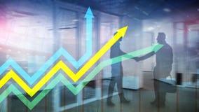 De financi?le grafiek van de groeipijlen Investering en handelconcept royalty-vrije illustratie