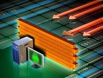 De firewall van de computer Royalty-vrije Stock Afbeeldingen