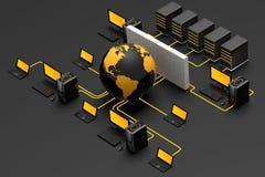 De Firewall van het netwerk Stock Afbeeldingen