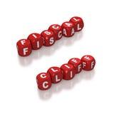 De fiscale die klip met rood wordt vertegenwoordigd dobbelt Stock Foto's