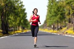 De fitness van de sport lopende vrouw Stock Afbeelding