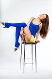 De fitness van sporten meisje Stock Foto's