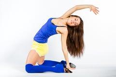 De fitness van sporten meisje Stock Foto