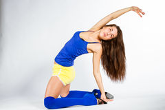 De fitness van sporten meisje Royalty-vrije Stock Foto's