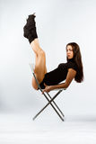 De fitness van sporten meisje Stock Afbeeldingen