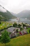 De fjord Noorwegen van Geiranger Stock Foto