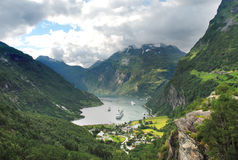 De fjord Noorwegen van Geiranger Stock Afbeelding