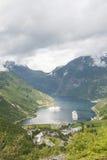 De fjord Noorwegen van Geiranger Stock Fotografie