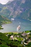 De fjord van Geiranger Stock Afbeelding