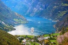 De fjord van Geiranger Royalty-vrije Stock Foto's
