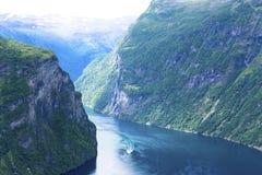 De Fjord van Geiranger Stock Foto