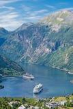 De Fjord van Geiranger, Noorwegen Royalty-vrije Stock Afbeelding