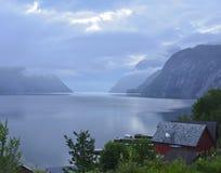 De Fjord van Hardanger   stock foto's
