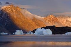 De Fjord van het noordwesten - Scoresbysund - Groenland Royalty-vrije Stock Afbeelding
