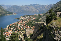 De fjord van Kotor Stock Foto