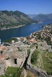 De fjord van Kotor stock foto's