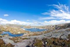 De fjord van Noorwegen landskape Stock Foto's