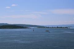 De fjord van Oslo stock foto's