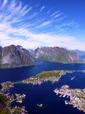 De fjorden van Noorwegen Stock Foto's