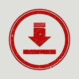 De flèche filigrane en caoutchouc de timbre de joint vers le bas Symbole de vecteur d'icône avec la conception grunge et la textu illustration stock