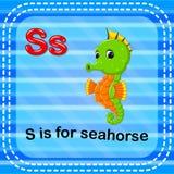De Flashcardbrief S is voor seahorse vector illustratie