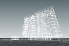 De flat 3d illustratie van de architectuurtekening Royalty-vrije Stock Afbeeldingen