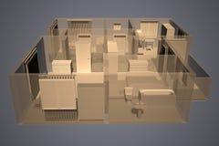 De flat van de röntgenstraal royalty-vrije illustratie