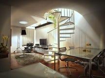 De flat van de zolder Stock Foto