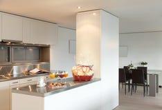 De flat van Nice, keukenmening Royalty-vrije Stock Foto