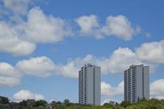 De flatgebouwen met koopflats van de luxe Royalty-vrije Stock Foto's