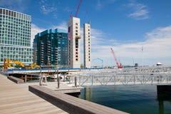 De flatgebouwen met koopflats van de nieuwe bouwluxe op Ventilatorpijler in Boston Stock Fotografie