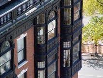 De Flatgebouwen met koopflats van de Straat van het park Royalty-vrije Stock Foto's