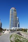De Flatgebouwen met koopflats van het Huis in de stad en Highrise van de luxe Royalty-vrije Stock Fotografie