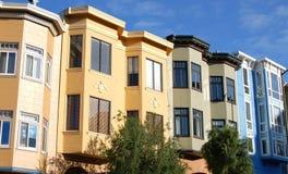 De flatgebouwen met koopflats van San Fran Royalty-vrije Stock Fotografie