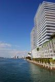 De Flatgebouwen met koopflats van SoBe op Baai Biscayne Royalty-vrije Stock Afbeeldingen