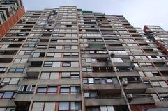 De flatgebouwen met koopflats van Zagreb Stock Afbeeldingen