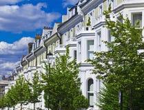 De Flatgebouwen van de luxe In Heuvel Notting Stock Foto