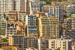 De flatgebouwen van Monaco royalty-vrije stock afbeeldingen